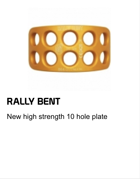 rally bent 10 hole plate