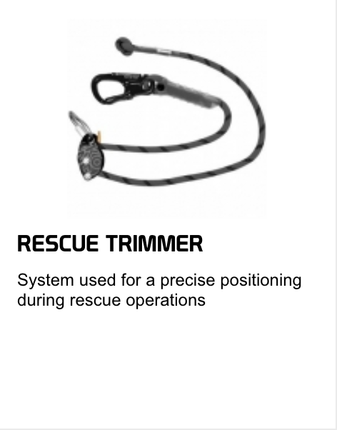 rescue trimmer for precise positioning